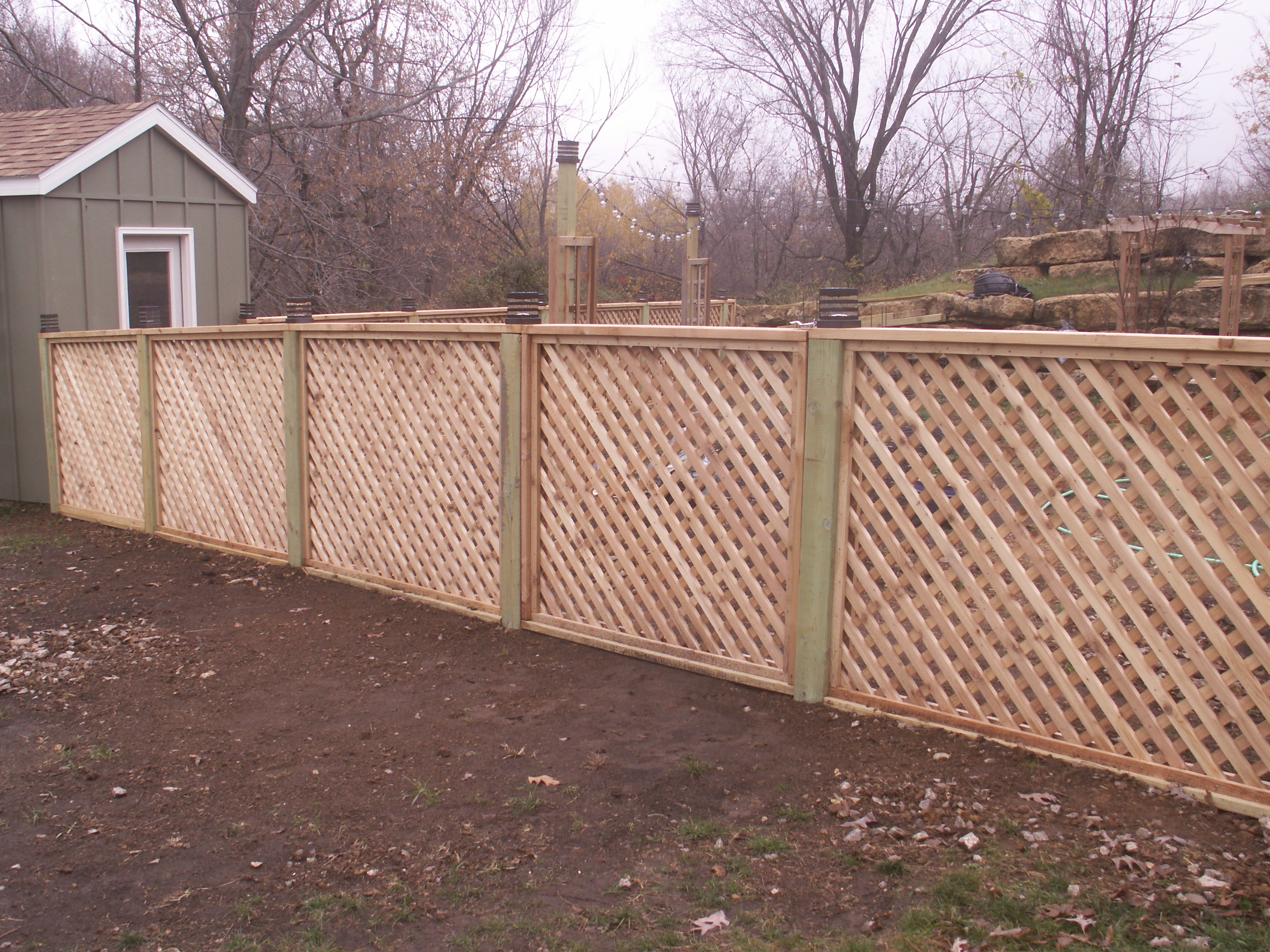 Cedar lattice custom made fink fencing inc this baanklon Choice Image