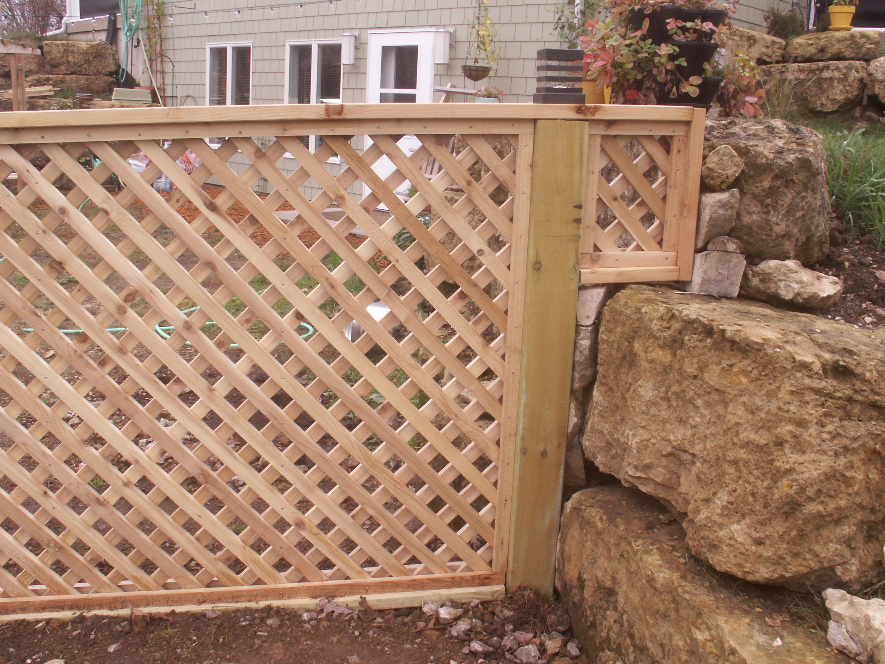 cedar lattice custom made fink fencing inc