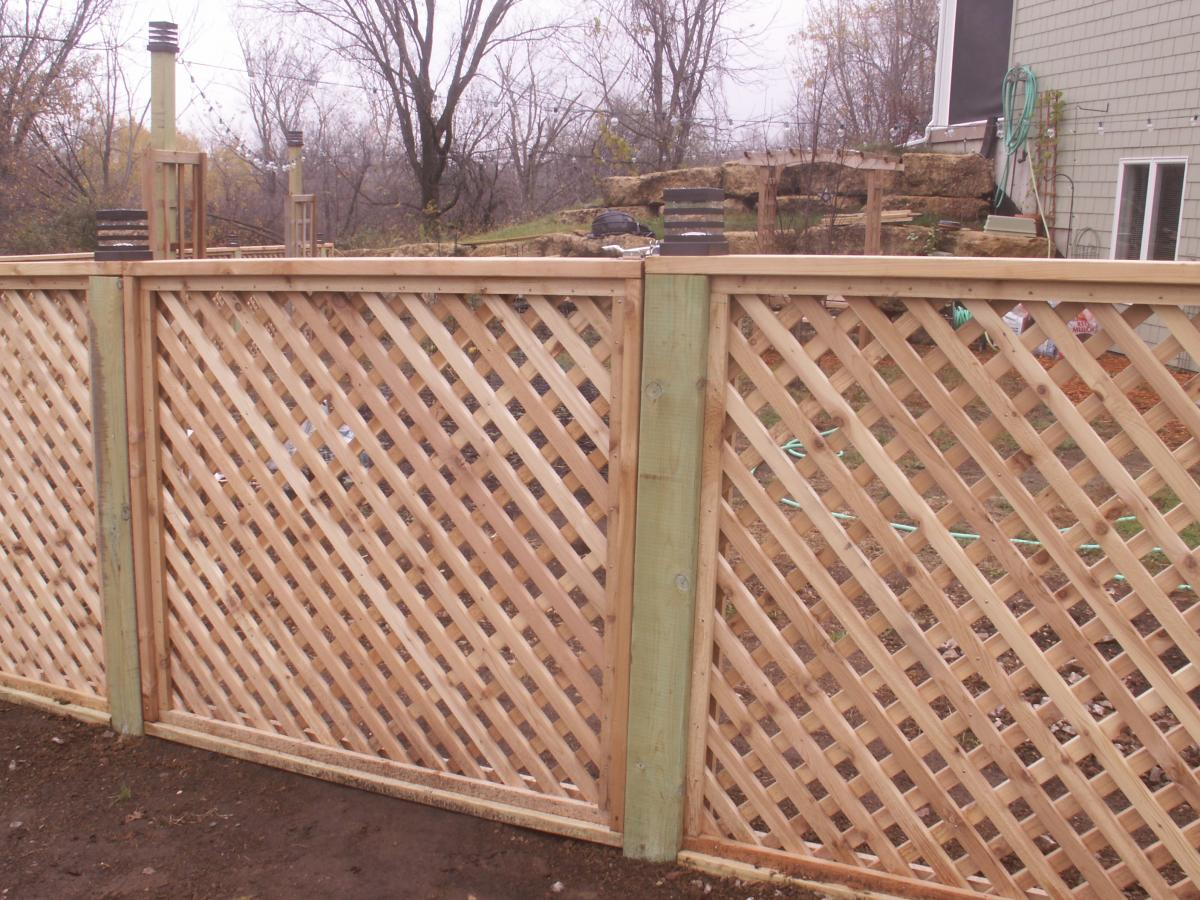 Cedar Lattice Custom Made   Fink Fencing Inc